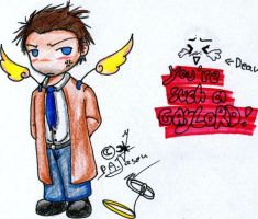 Such a gaylord - Castiel by P-A-Jason