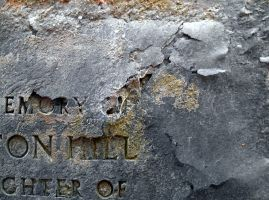 Stock texture - cemetery stone with text by rockgem
