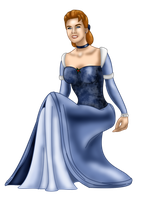 Cinderella Christmas Gown by FalseDisposition