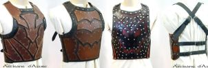 Leather breastplate prototype by ArtisansdAzure