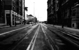 tram lines by awjay