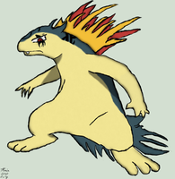 Typhlosion Pokesona Body Shot by Drake09