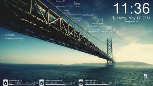 Bay Bridge Rainmeter by agaaachr