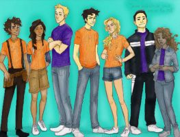 Seven Halfbloods by burdgebug colored by cheesebucket100