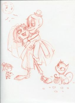 Ruby and Skullboy: I Do by GlamourKat