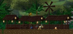 the Camp of Daring Do in the Jungle by alexmakovsky