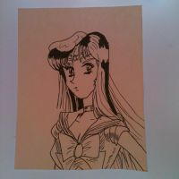Inktober 15- Sailor Mars by Lance-Danger
