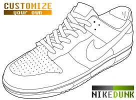 Nike Dunk Template by wopek
