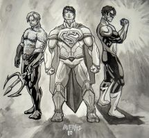 Justice League: Aquaman, Superman, Green Lantern by DirkPower