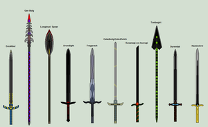 Weapons of legends etc by Nameless75