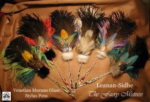 FAERY MISTRESS Glass Pens by ChaeyAhne