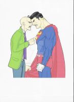 Superman and Luthor CG by Gobo64