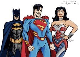 DC trinity redesign by Guinessyde colored by ShinRedDear