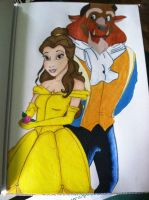 Beauty and the Beast by haleighdrop