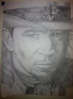 pencil drawing of a young Stevie Ray Vahahn by NeDrawMas