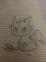 Toothless! request #13 half way complete! by Scarletcat1