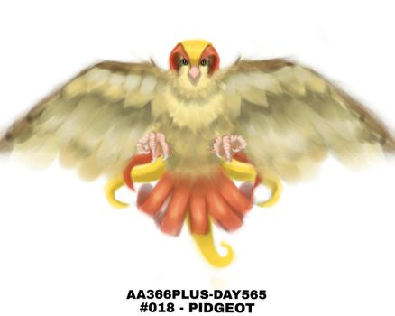 Aa366plus 2015-010-05 Day565 No-018 Pidgeot by AA366PLUS