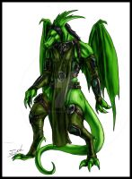 Emerald For Obsydian Dragon by Destinyfall