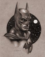 Batman Portrait Sketch by benke33