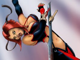 Bloodrayne detail by Panlannen