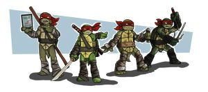 Ninja Turtles The Tubular Foursome by CandyKappa