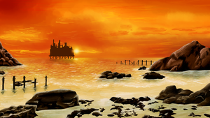 Oil Rig at Sunset by theDisappointment