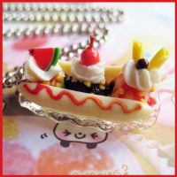 Banana and Ice Cream Necklace by cherryboop