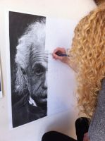 Drawing Albert Einsteins Portrait by SamanthaMessias
