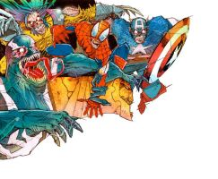 marvel ZOMBIES by redcloud