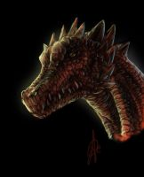Dragon head speed paint 40 m by juananibalcanto