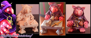 League of Legends Shopkeeper fimo clay by LadyAlerie