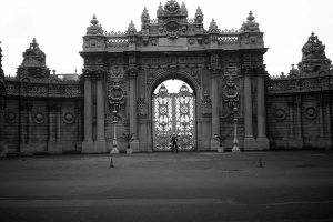 Turkey Istanbul Dolmabahce Palace 1970s by BlackWhitePictures