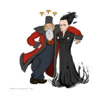 Avengers Time! - Loki Black and Thor Claus by moonklin