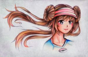 Pokemon BW2 Trainer Sketch by Tajii-chan