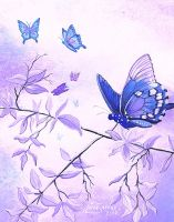 Blue Butterflies by Artsy50