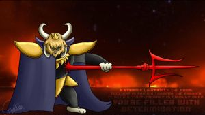 Asgore fight. by HipsterInferno69