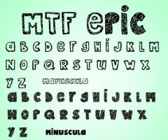 MTF Epic Font by PamEditions