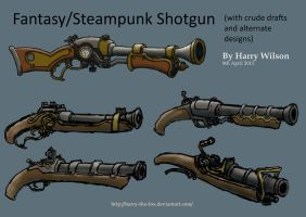Fantasy and Steampunk Shotguns by Harry-the-Fox