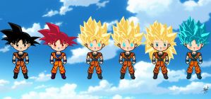 Goku-San all forms by MALIKISVENGEANCE