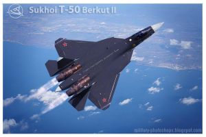 Sukhoi T-50 PAkfa as Su-47 Berkut Golden eagle II by ghufranali