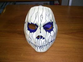 Cast mask White/purple 2 by foxdog77