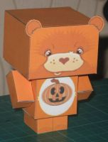 Halloween Care Bear Cubee by paperart