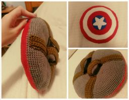 Mini Captain America Crochet Shield! by jenny3793
