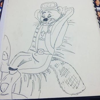 .:Requested:. Greg the Beaver by ChipmunkSailor