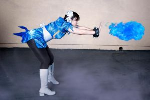 Street Fighter Chun-Li Kikoken 'Spirit Works Fist' by CosplayKoneko