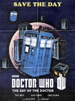 The Day Of The Doctor (Vintage Poster) by JaseTheAvenger