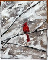 Winter Cardinal by ThisArtToBeYours