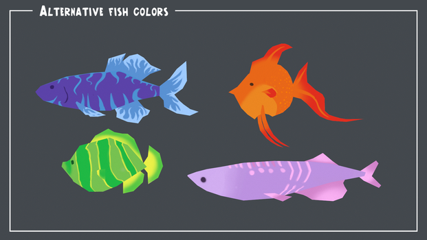 Fishes, more colors by Nat-the-witch
