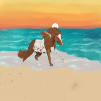 Pintaloosa beach BG by Deede25