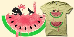 watermelon falls t shirt by biotwist